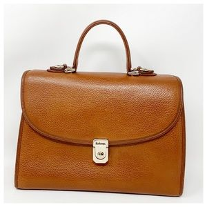 Authentic Burberry Leather Satchel